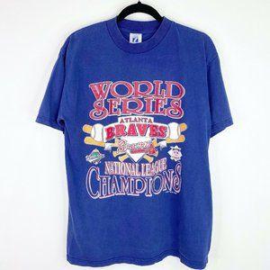 Vintage Atlanta Braves 1993 World Series T-Shirt L